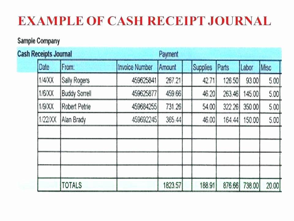 Cash Receipt format In Excel New T Receipt Payment More From Others General