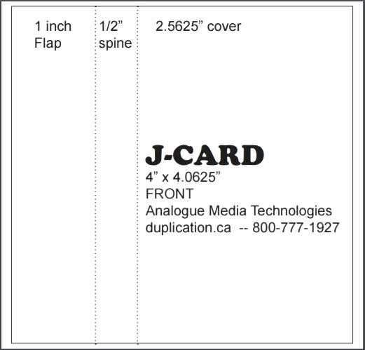 Cassette Tape J Card Template Awesome Cassette J Card Template Microsoft Word Cassette Tape