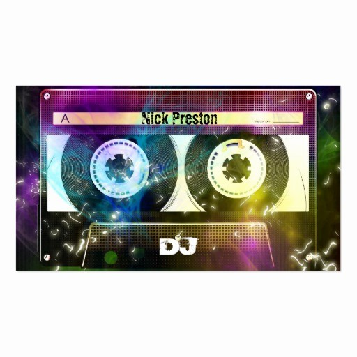 Cassette Tape J Card Template Awesome Create Your Own Dj Business Cards Page2