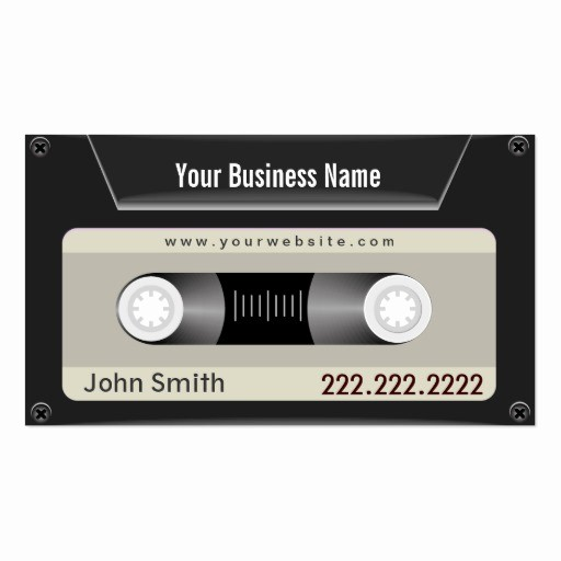 Cassette Tape J Card Template Elegant Create Your Own Dj Business Cards Page2