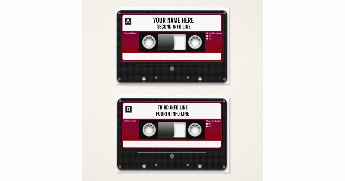 Cassette Tape J Card Template Inspirational Dj Cassette Tape Mixtape Business Card