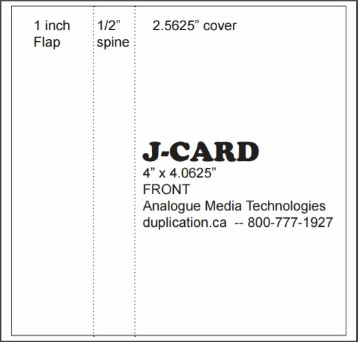 Cassette Tape J Card Template Lovely Audio Cassette J Cards Printed Colour Both Sides From 20