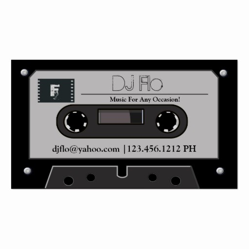 Cassette Tape J Card Template Lovely Create Your Own Dj Business Cards Page2