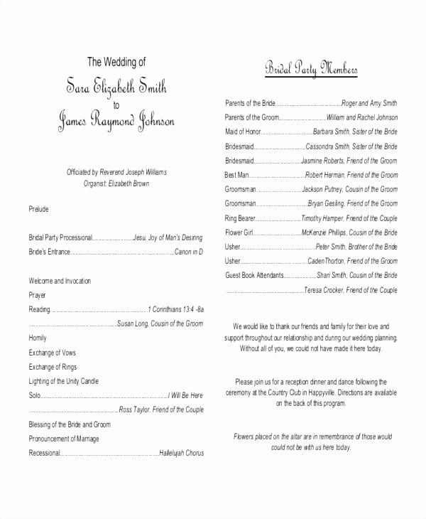 Catholic Wedding Program Template Free Beautiful Simple Wedding Program Template Simple E Page Wedding