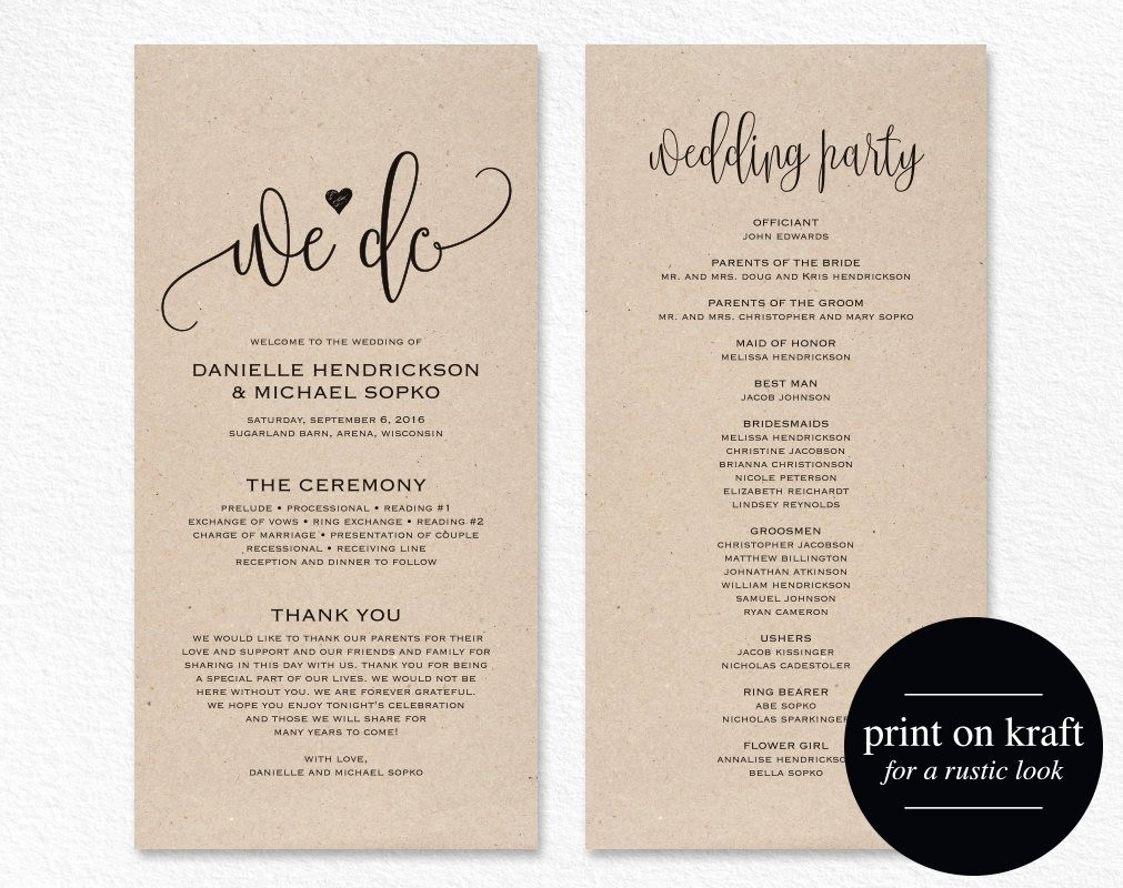 Catholic Wedding Program Template Free Beautiful Wedding Program Template Wedding Program Printable We Do