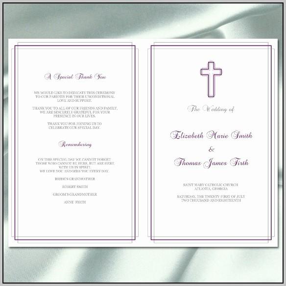 Catholic Wedding Program Template Free Elegant Catholic Wedding Mass Program Template Resume Examples