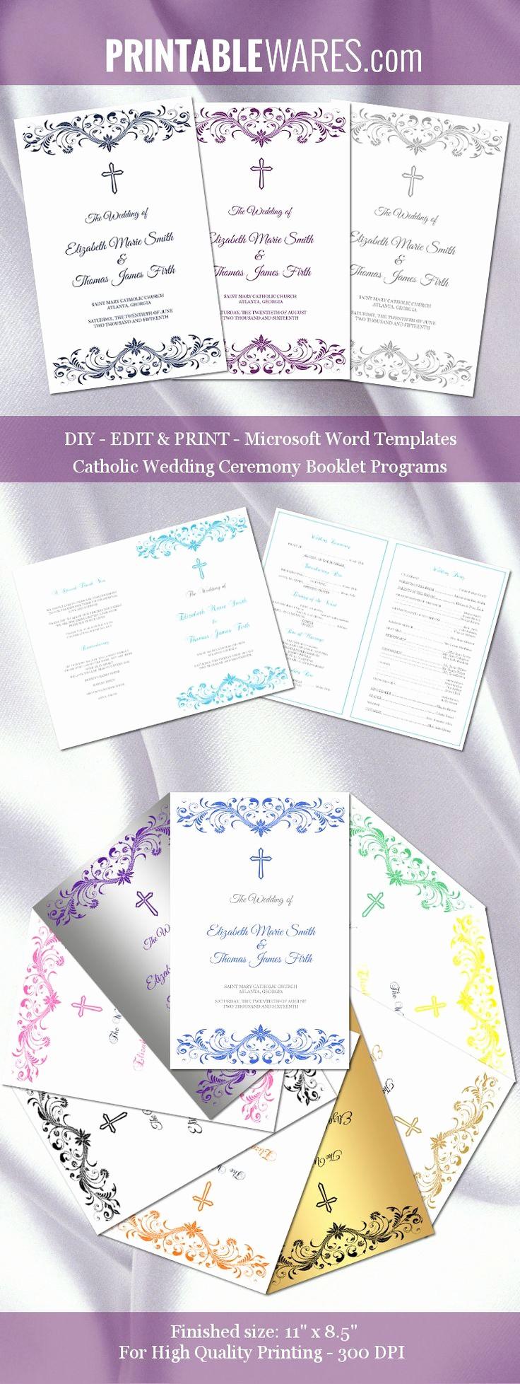 Catholic Wedding Program Template Free Elegant Catholic Wedding Program Templates for Microsoft Word You