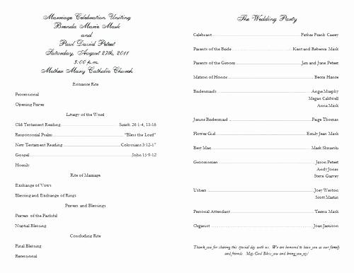 Catholic Wedding Program Template Free Elegant Ideas Sample Wedding Program Template Singular Art Gallery