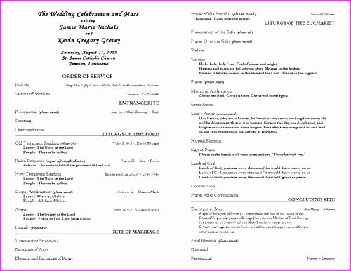 Catholic Wedding Program Template Free Fresh Catholic Wedding Ceremony Template Image Via Me Catholic