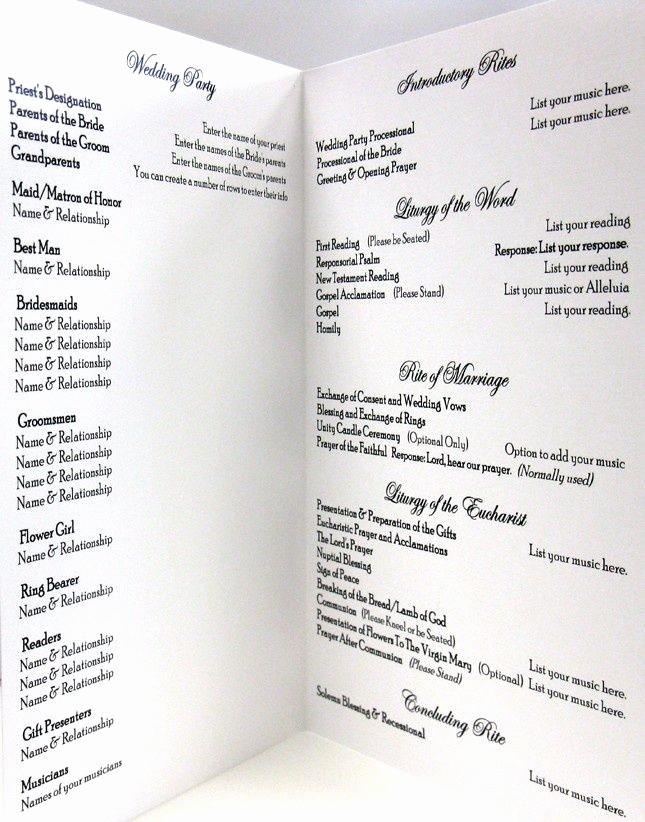 Catholic Wedding Program Template Free Inspirational Pin by Rebecca Liskay On Final Wedding Details In 2019