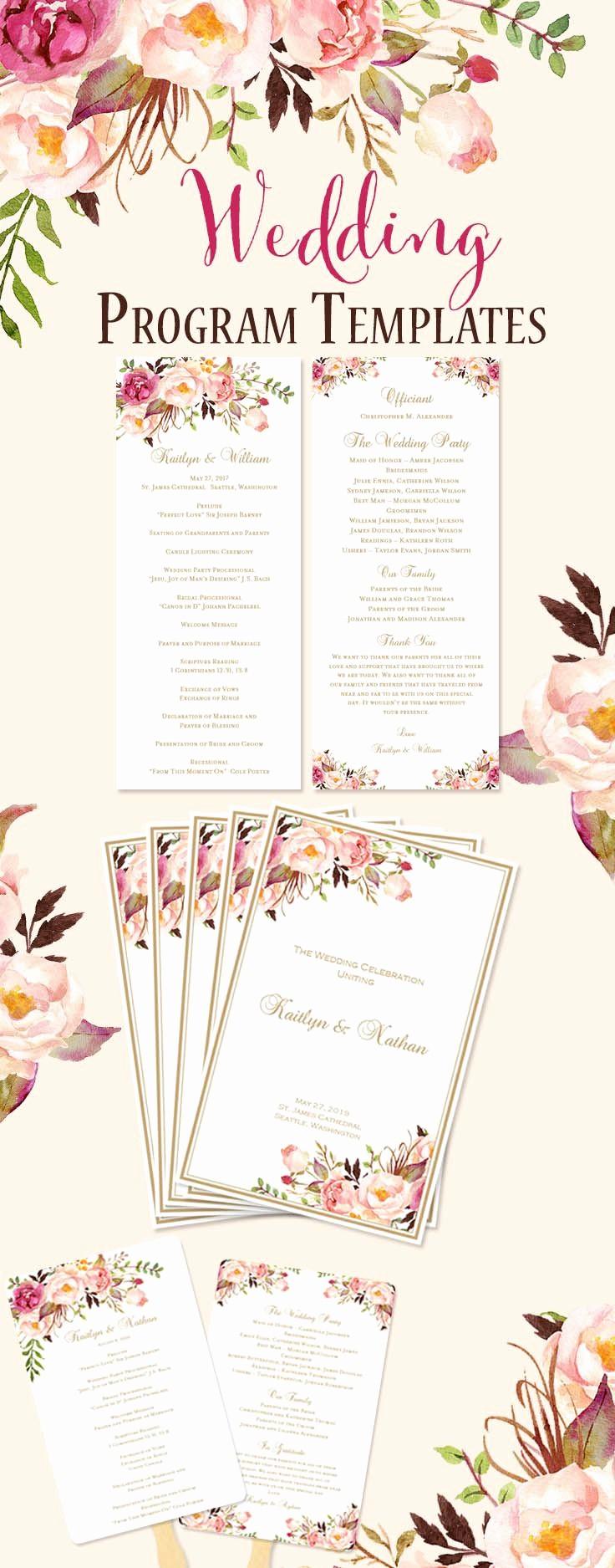 Catholic Wedding Program Template Free Lovely Best 25 Wedding Program Templates Ideas On Pinterest