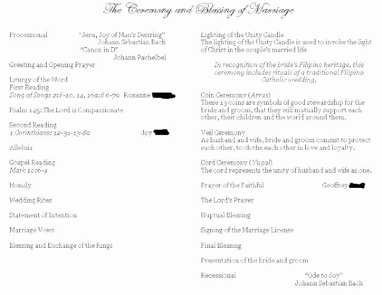 Catholic Wedding Program Template Free Lovely Catholic Wedding Ceremony Template Image Via Me Catholic