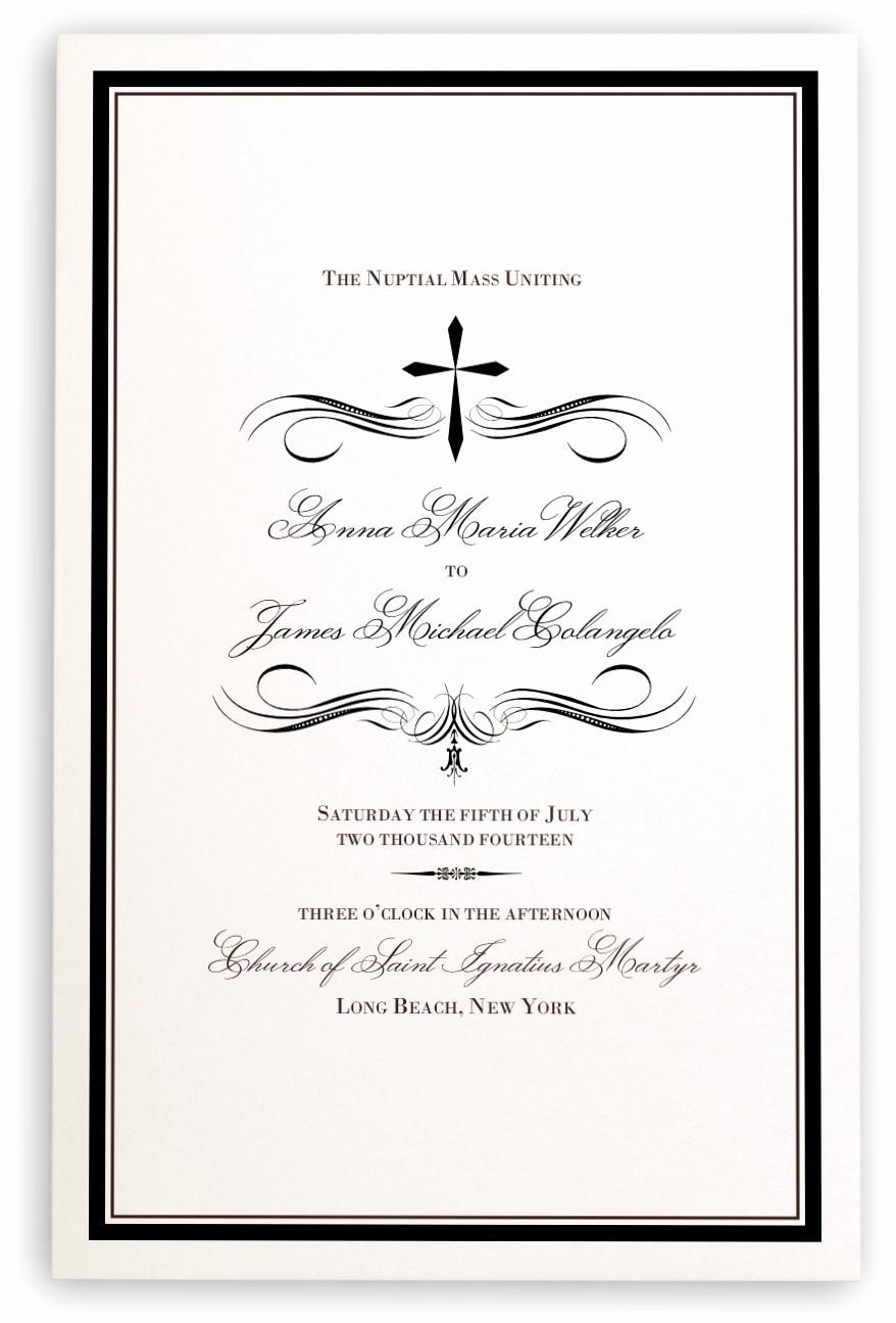 Catholic Wedding Program Template Free Lovely Catholic Wedding Programs