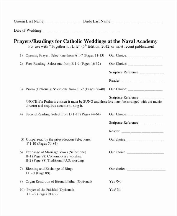 Catholic Wedding Program Template Free Unique 10 Wedding Program Templates Free Sample Example