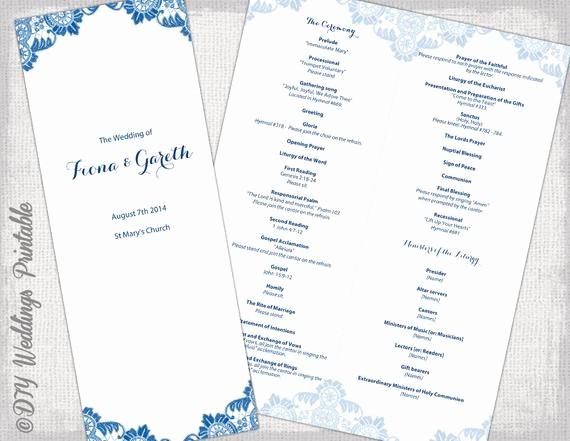 Catholic Wedding Program Template Free Unique Catholic Wedding Program Template Antique Lace Diy