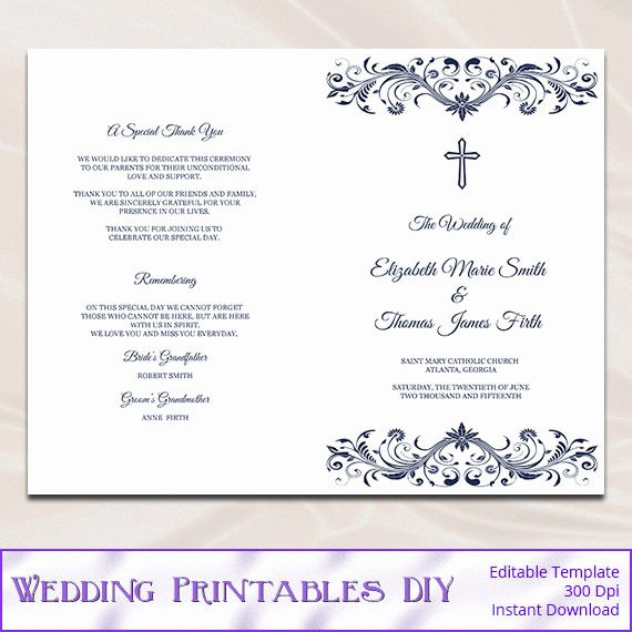Catholic Wedding Program Template Free Unique Download What Font to Use for Wedding Programs Free