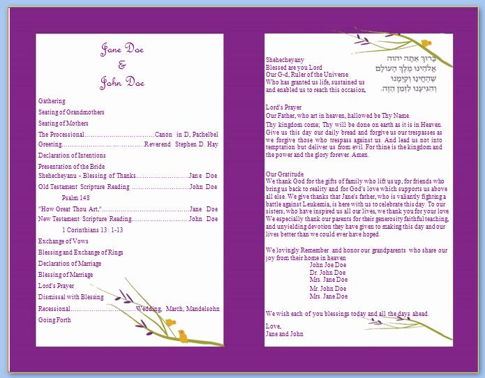 Catholic Wedding Program Templates Free Awesome 6 Best Of Wedding Program Templates Catholic