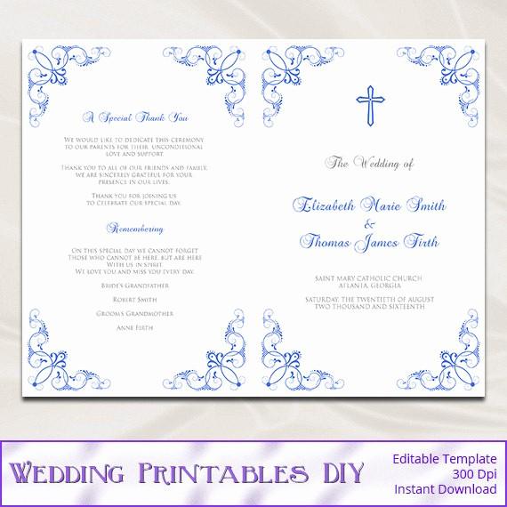 Catholic Wedding Program Templates Free Awesome Catholic Wedding Program Template