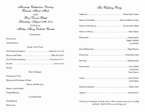Catholic Wedding Program Templates Free Awesome Program Template Beepmunk