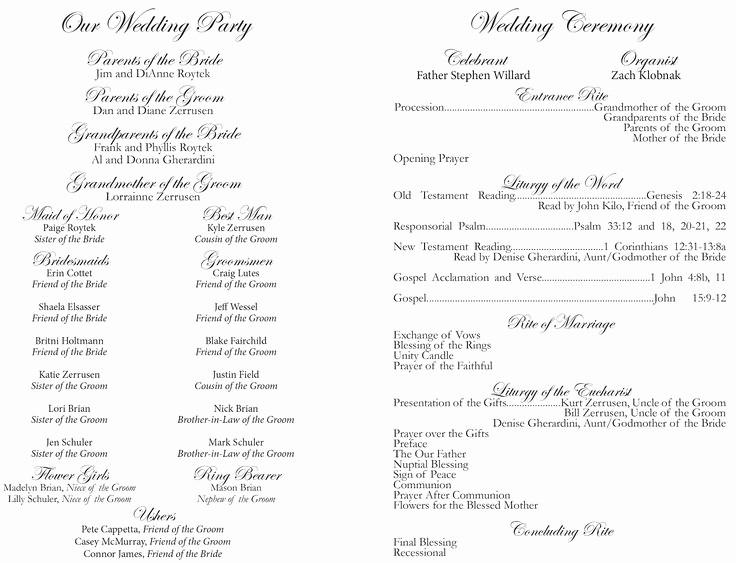 Catholic Wedding Program Templates Free Beautiful 25 Best Ideas About Catholic Wedding Programs On