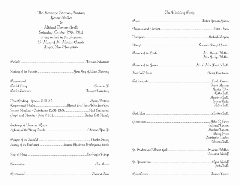Catholic Wedding Program Templates Free Beautiful Wedding Program Templates Wedding Programs Fast