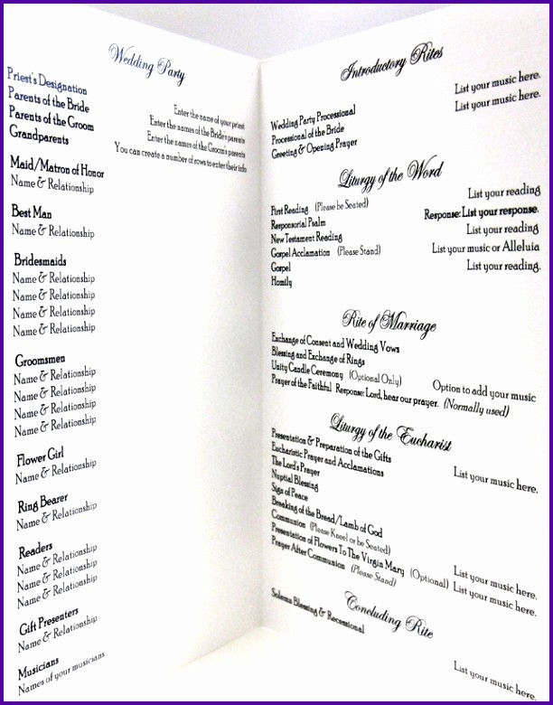 Catholic Wedding Program Templates Free Best Of 9 Church Wedding Program Templates Free Tipstemplatess