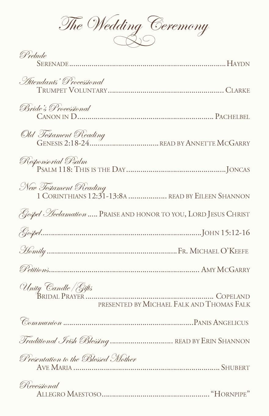 Catholic Wedding Program Templates Free Elegant Catholic Wedding Program Examples by Jrnwecordia On Deviantart