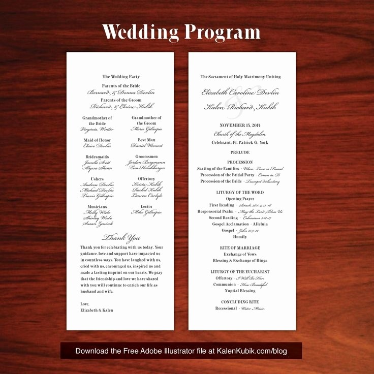 Catholic Wedding Program Templates Free Elegant Catholic Wedding Program Template Free Beepmunk