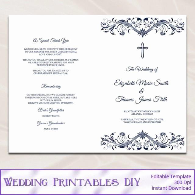 Catholic Wedding Program Templates Free Inspirational Diy Wedding Program Booklet Template Templates Resume