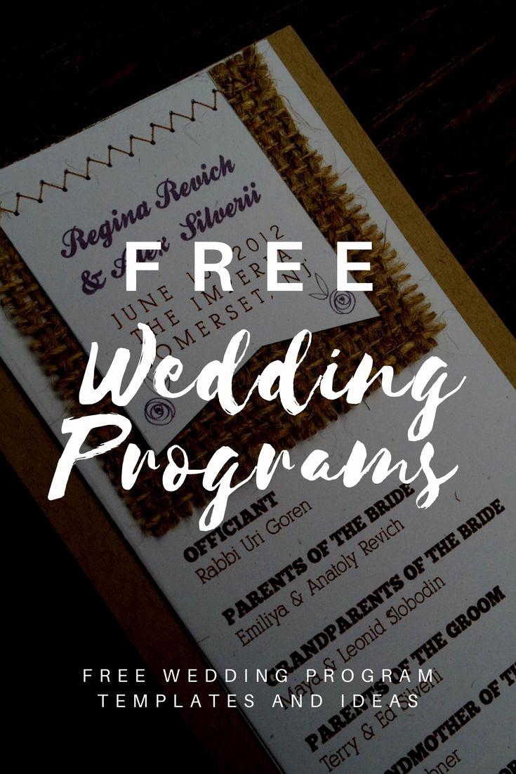 Catholic Wedding Program Templates Free Luxury Free Wedding Program Templates Invitations