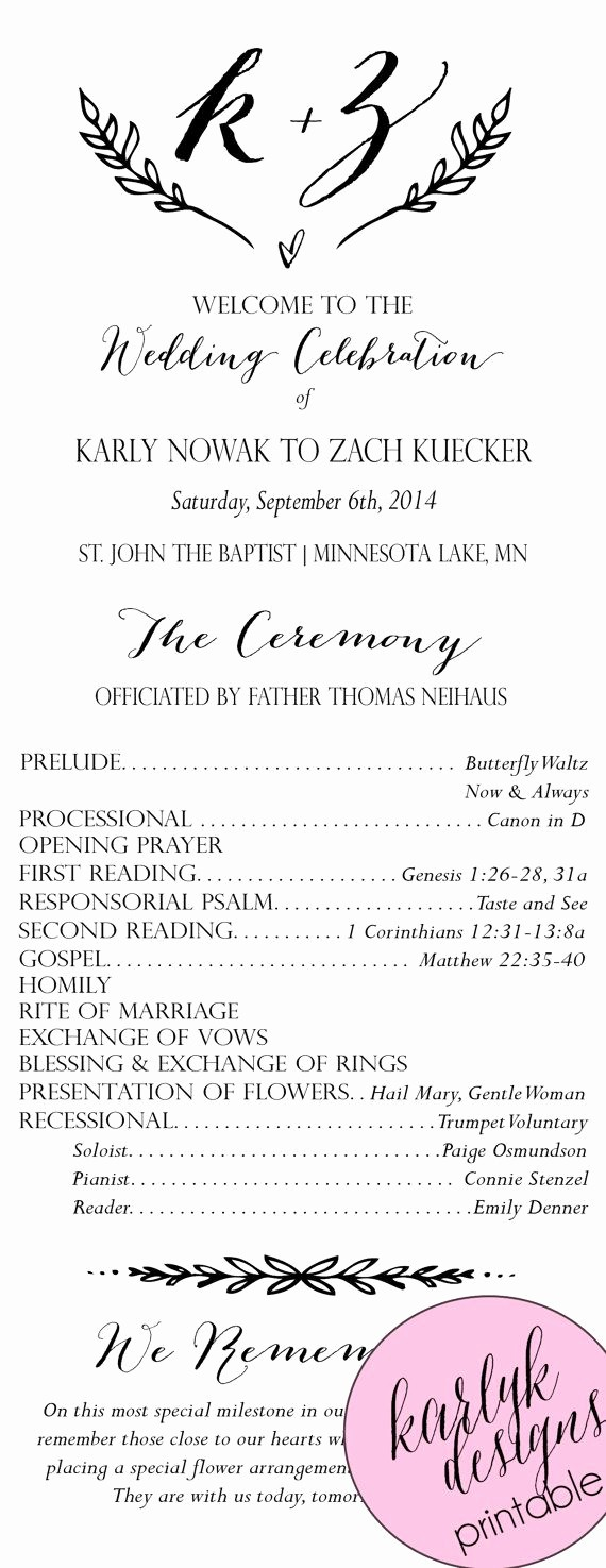 Catholic Wedding Program Templates Free Unique the 25 Best Catholic Wedding Programs Ideas On Pinterest