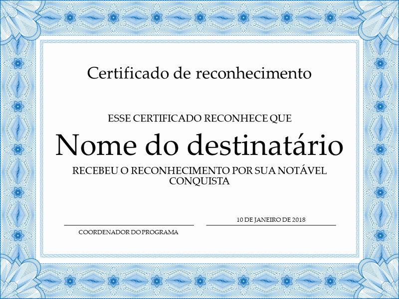 Certificado De Agradecimiento Y Apreciacion Beautiful Template De Certificado De Apreciacion Moldura Para Word