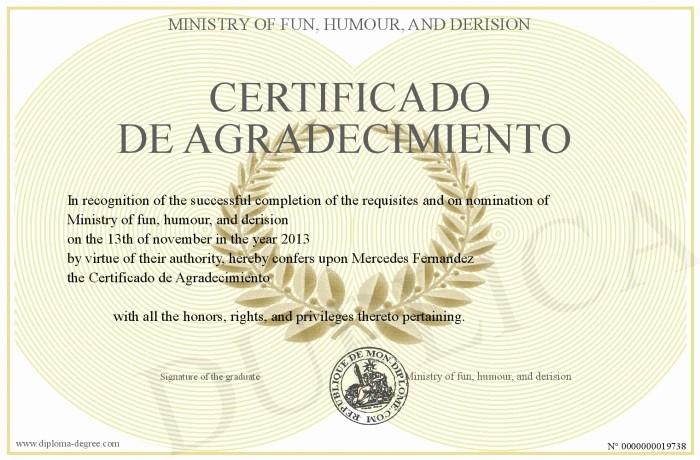 Certificado De Agradecimiento Y Apreciacion Fresh Certificado De Agradecimiento Y Apreciacion