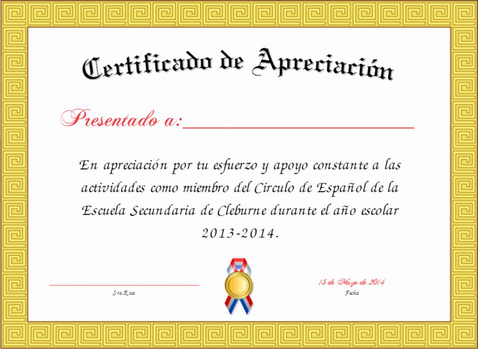 Certificado De Agradecimiento Y Apreciacion Fresh Certificado De Agradecimiento Y Apreciacion Paq 15