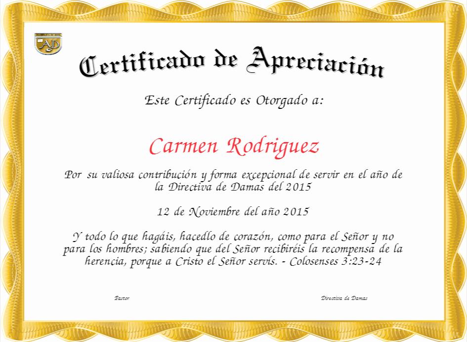 Certificado De Agradecimiento Y Apreciacion Lovely Certificados Cristianos Gratis