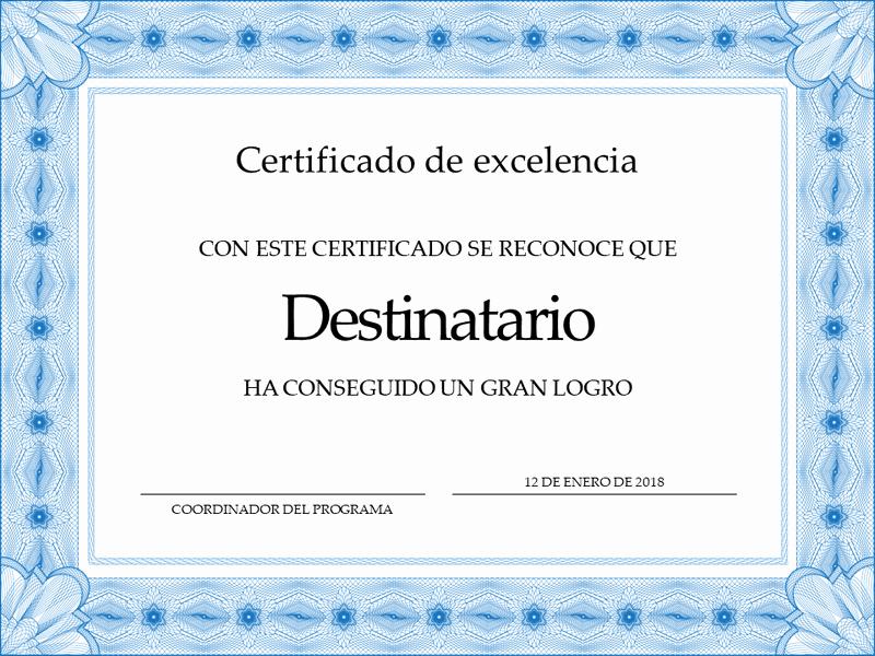 Certificado De Agradecimiento Y Apreciacion Luxury Certificados De Agradecimiento En Word