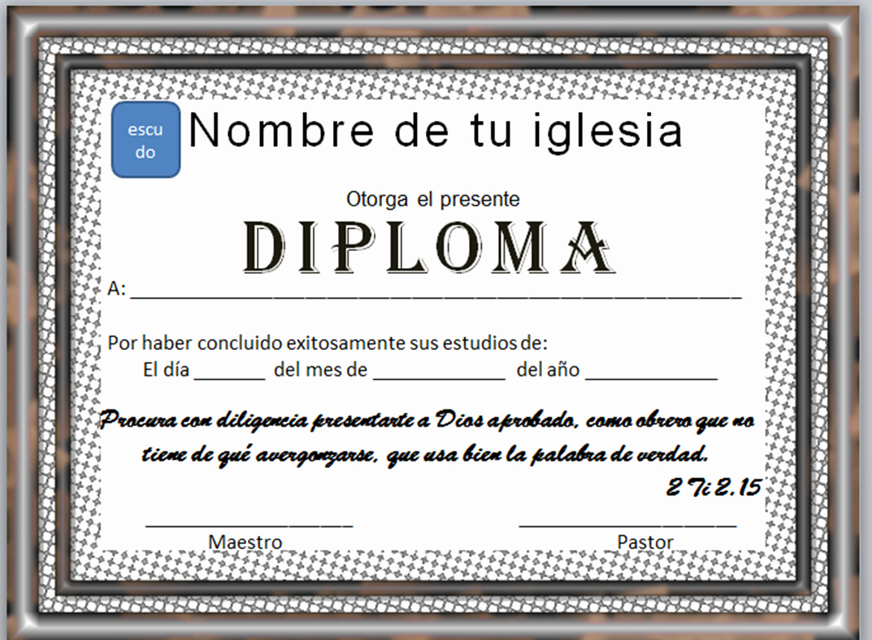 Certificado De Agradecimiento Y Apreciacion Luxury Diplomas Cristianos