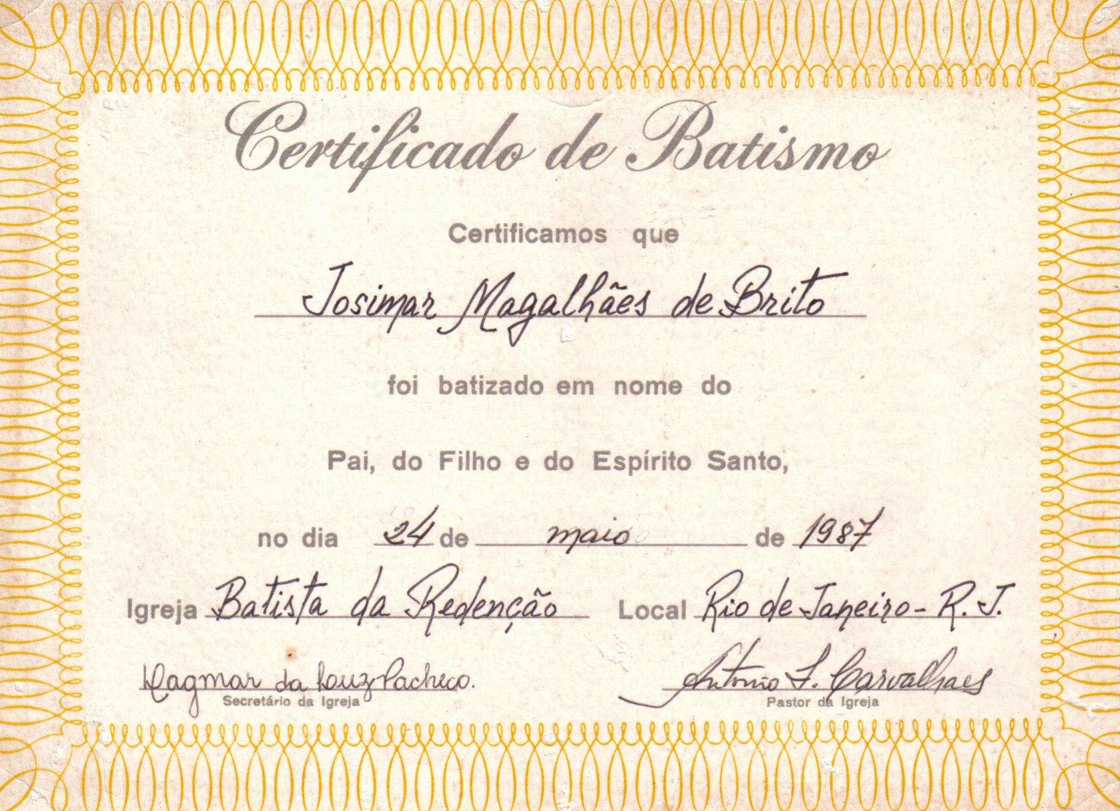 Certificado De Agradecimiento Y Apreciacion Unique Certificado De Bautismo En Agua