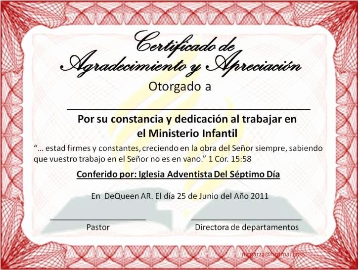 Certificados De Reconocimiento Para Editar Beautiful Certificado De Agradecimiento 3