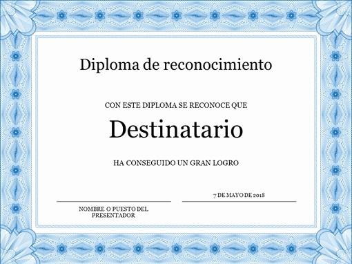 Certificados De Reconocimiento Para Editar Fresh Certificados Fice