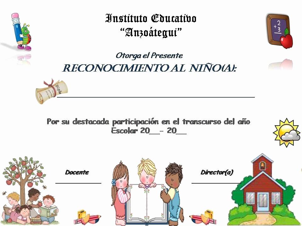 Certificados De Reconocimiento Para Editar Inspirational Planeta Escolar Diplomas Y Reconocimientos Para Alumnos