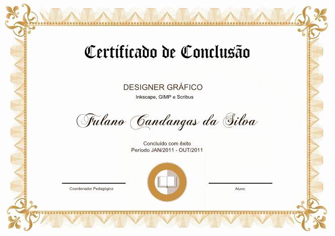 Certificados De Reconocimiento Para Editar Lovely Certificado Modelo Clássico 09 Tutorfree