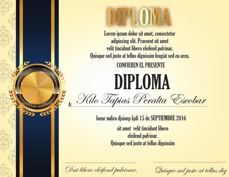 Certificados De Reconocimiento Para Editar Lovely Las 25 Mejores Ideas sobre Diplomas De Reconocimiento En