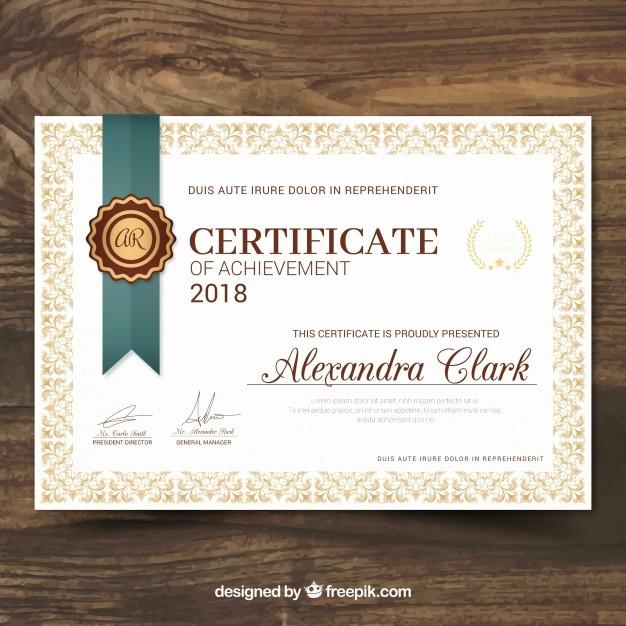 Certificados De Reconocimiento Para Editar New Certificado De Reconocimiento En Estilo Vintage