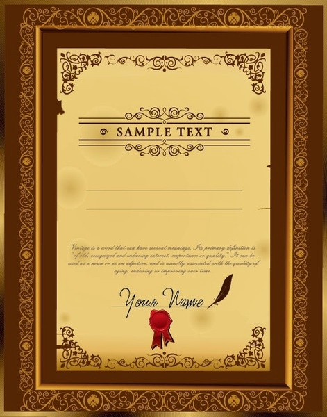 Certificate Background Design Free Download Beautiful Certificate Free Vector 828 Free Vector for
