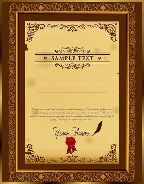 Certificate Background Design Free Download Beautiful Certificate Free Vector 828 Free Vector for