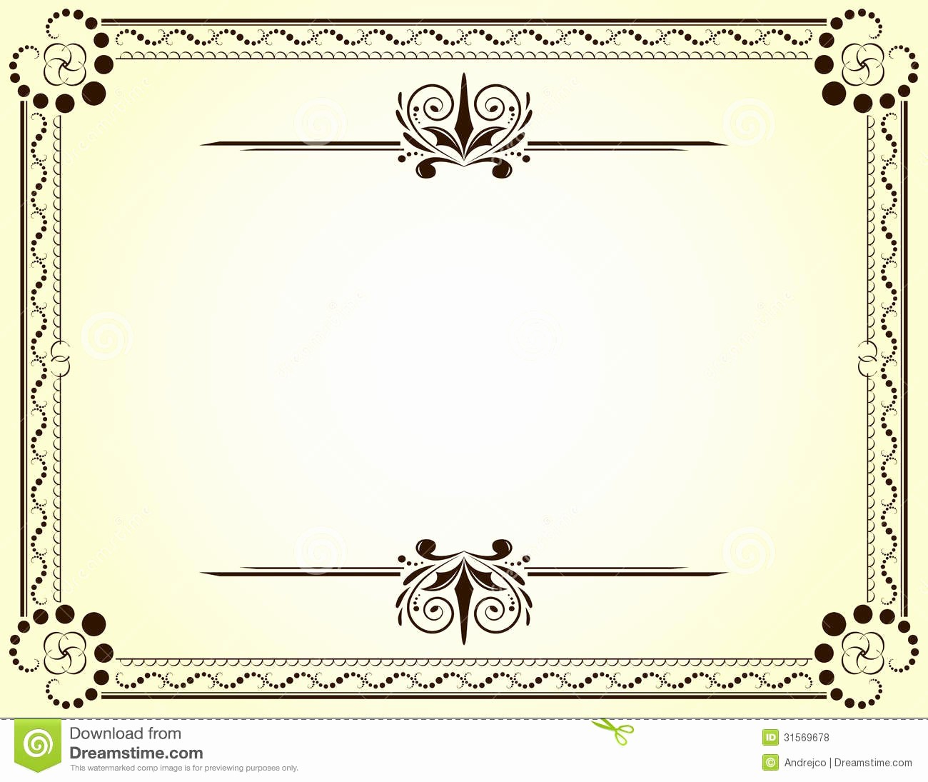 Certificate Background Design Free Download Beautiful Certificate Stock Vector Illustration Of Nobody Frame