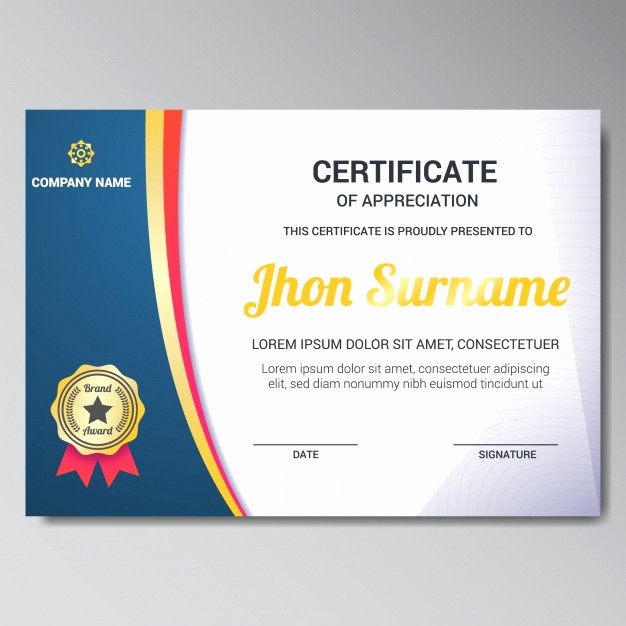 Certificate Background Design Free Download Beautiful Certificate Template Design Vector