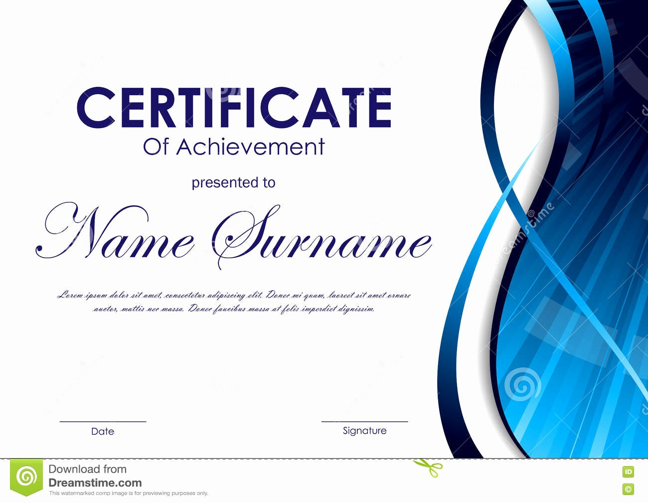 Certificate Background Design Free Download Best Of Certificate Achievement Template Stock Vector Image