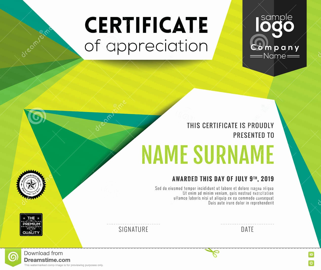 Certificate Background Design Free Download Best Of Modern Certificate Background Design Template Stock Vector